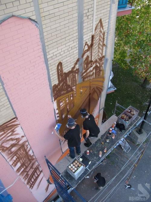 lady of grace mural montreal ashop fluke 11 Amazing Lady of Grace Mural in Montreal, Canada