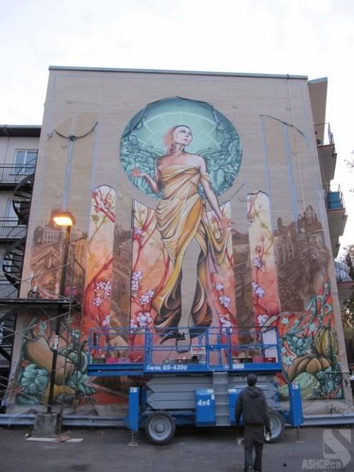 lady of grace mural montreal ashop fluke 2 Amazing Lady of Grace Mural in Montreal, Canada