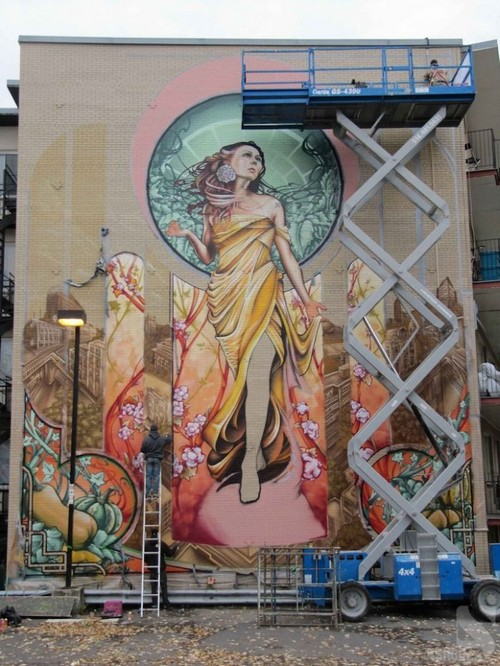 lady of grace mural montreal ashop fluke 3 Amazing Lady of Grace Mural in Montreal, Canada