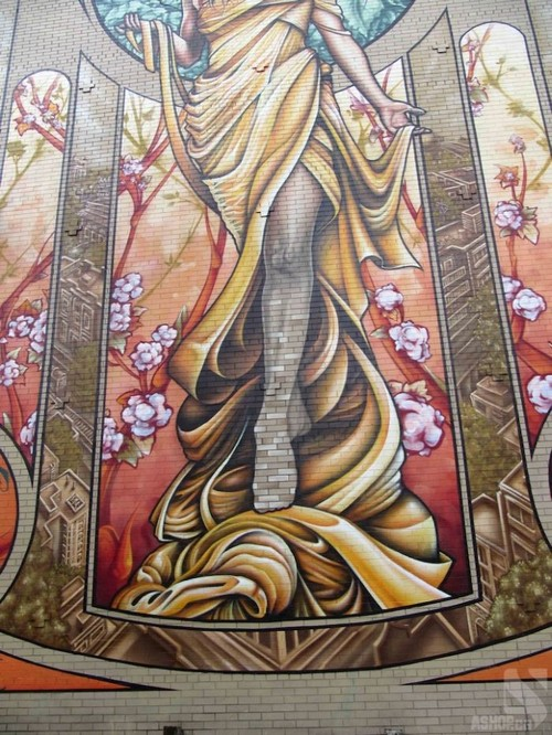 lady of grace mural montreal ashop fluke 7 Amazing Lady of Grace Mural in Montreal, Canada