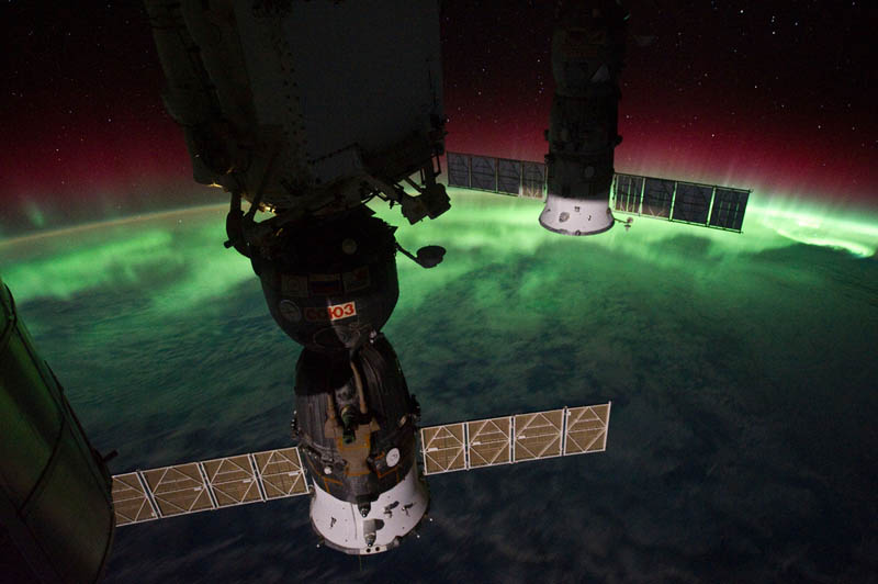 aurora australis over new zealand tasman sea nasa Earth at Night: 30 Photos from Space