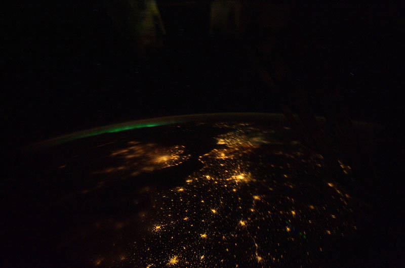 aurora borealis over europe from space nasa Earth at Night: 30 Photos from Space