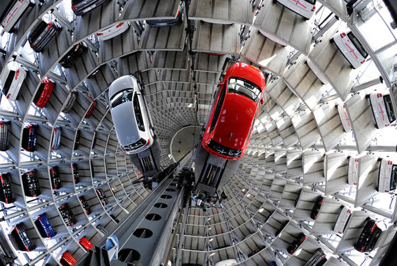 Volkswagen's 800-Vehicle Car Towers in Germany