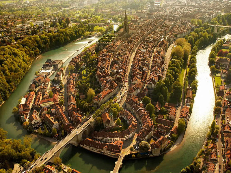bern switzerland aerial from above The Top 75 Pictures of the Day for 2012