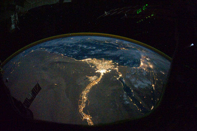 cairo and alexandria egypt at night from space nasa Earth at Night: 30 Photos from Space