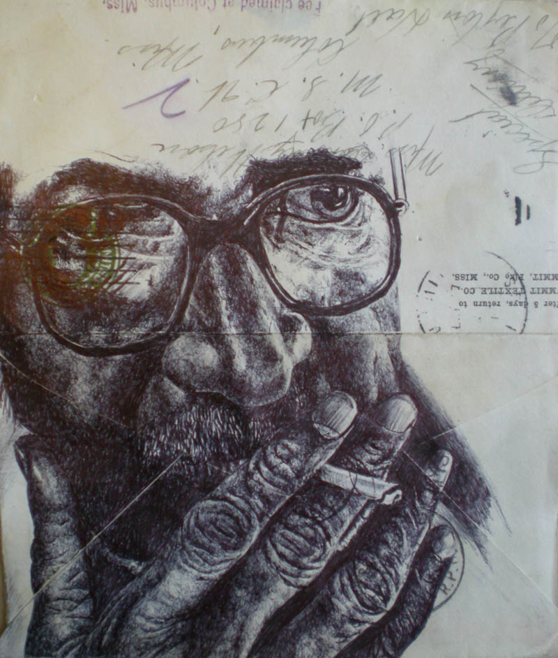 envelope art mark powell biro pen drawings 3 Amazing Envelope Art with a Ballpoint Pen
