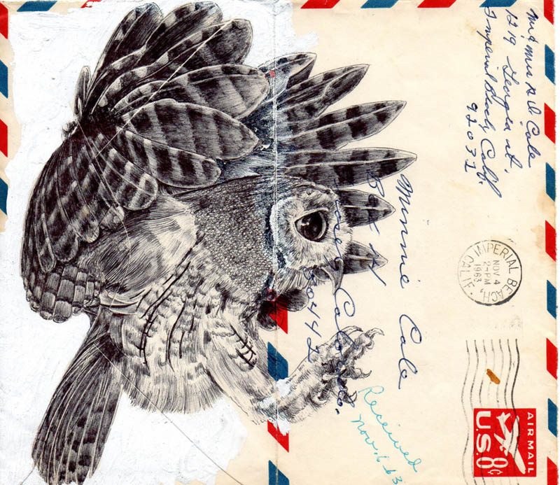 envelope art mark powell biro pen drawings 4 Amazing Envelope Art with a Ballpoint Pen