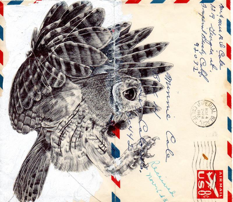 envelope art mark powell biro pen drawings 4 Amazing Envelope Art with a Ballpoint Pen