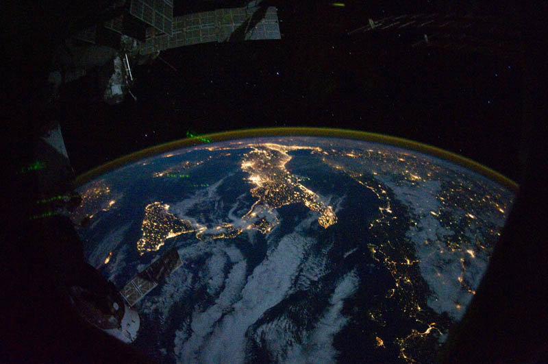 europe and africa at night from space nasa Earth at Night: 30 Photos from Space