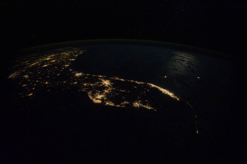 Earth at night 30 photos from space twistedsifter florida at night from space nasa earth at night 30 photos from space sciox Choice Image