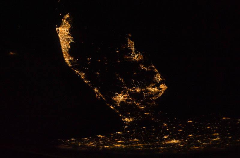 florida peninsula at night from space nasa Earth at Night: 30 Photos from Space
