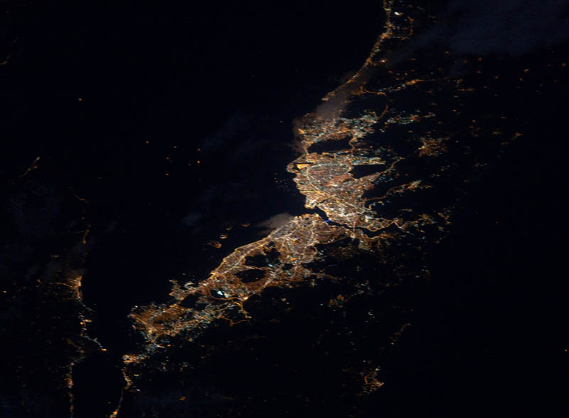 istanbul at night from space nasa Earth at Night: 30 Photos from Space