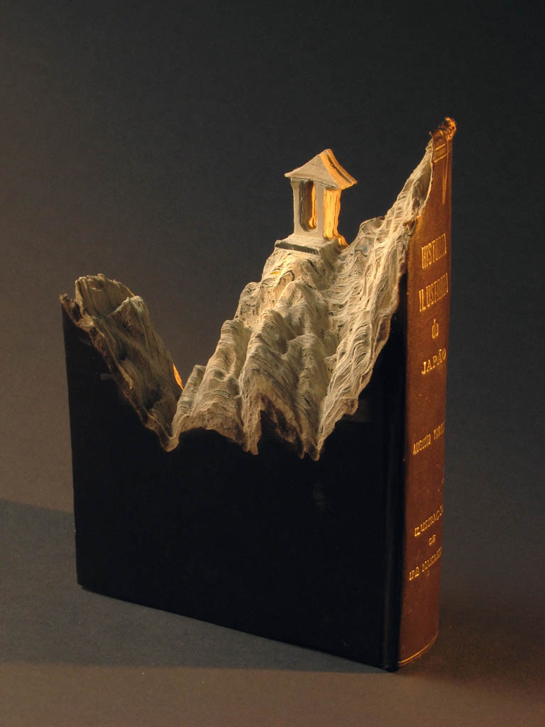 landscapes carved into books guy laramee 11 Incredible Landscapes Carved Into Books
