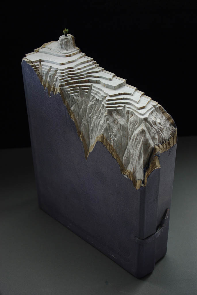 landscapes carved into books guy laramee 14 Incredible Landscapes Carved Into Books