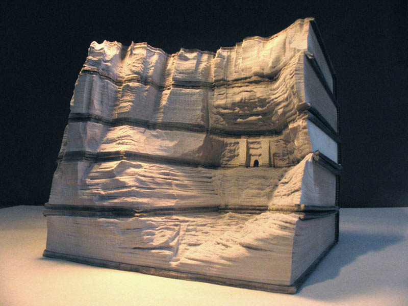 landscapes carved into books guy laramee 2 Incredible Landscapes Carved Into Books