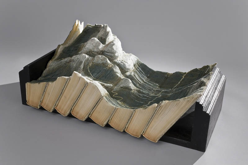 landscapes carved into books guy laramee 5 Incredible Landscapes Carved Into Books