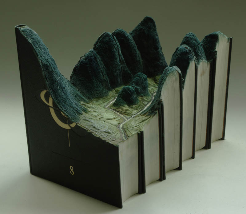 landscapes carved into books guy laramee 9 Incredible Landscapes Carved Into Books