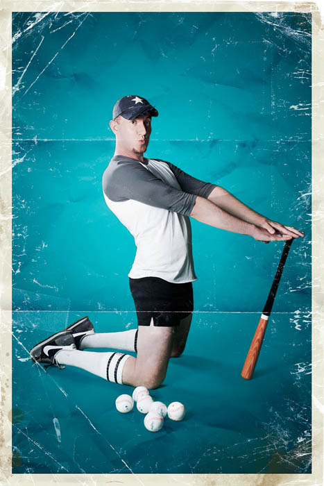 men in pinup poses male pinup calendar rion sabean 3 Men Ups: Men in Stereotypical Pin Up Poses