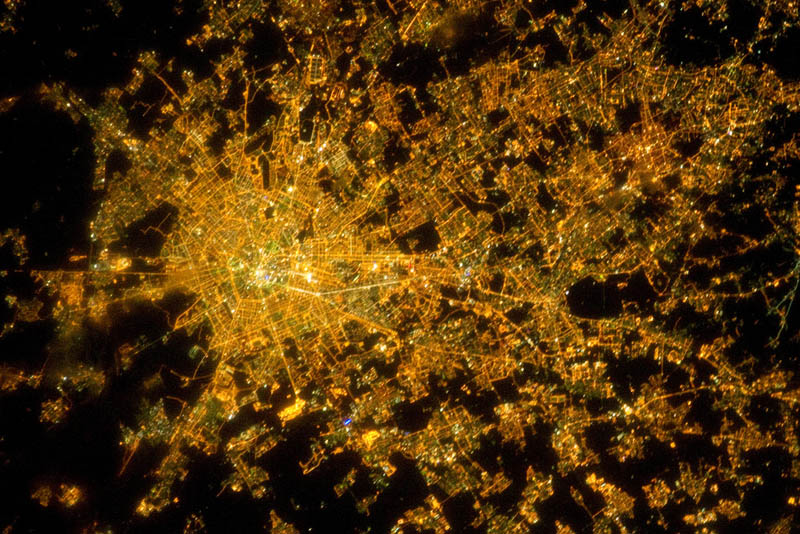 milan italy at night from space nasa Earth at Night: 30 Photos from Space