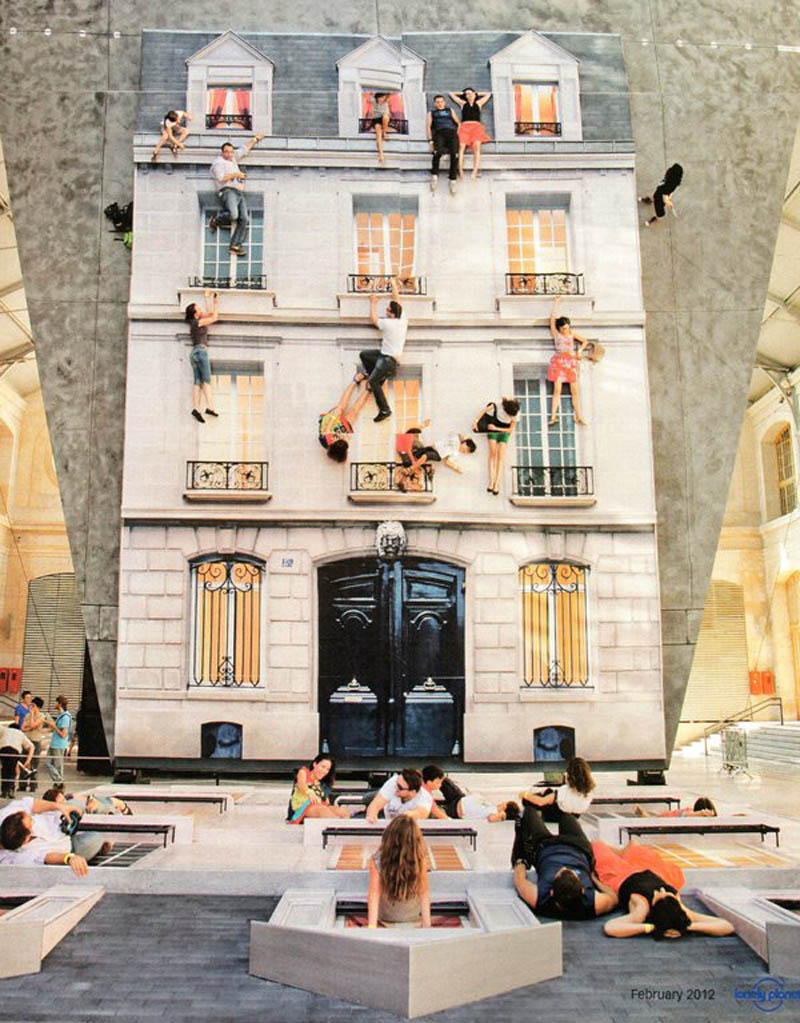 mirrored building art installation interactive france leandro erlich 1 Interactive Art Installation Turns People into Daredevils