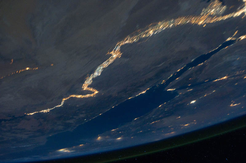 nile river and the sinai peninsula at night from space nasa Earth at Night: 30 Photos from Space
