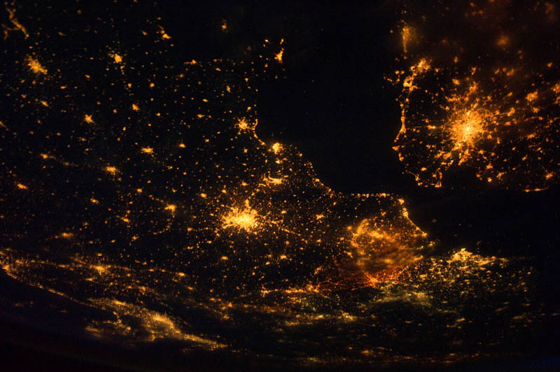 northwestern europe at night from space nasa Earth at Night: 30 Photos from Space