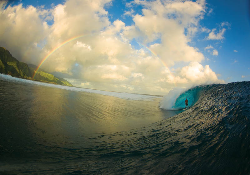rainbow surf shot Picture of the Day: Serenity Now