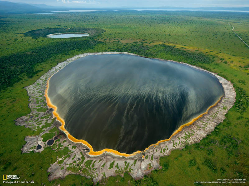 rift floor queen elizabeth park crater lakes 15 of the Most Beautiful Crater Lakes in the World