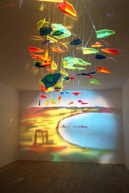 shadow art by rashad alakbarov 1 RGB Murals that Transform under Different Colored Lights
