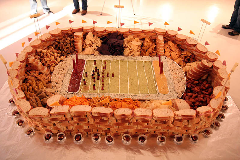 superbowl snack stadiums 24 The Best Super Bowl Snack Stadiums Ever
