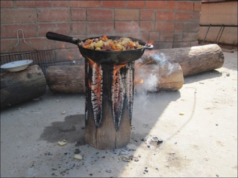 How To Make a Stove from a Single Log