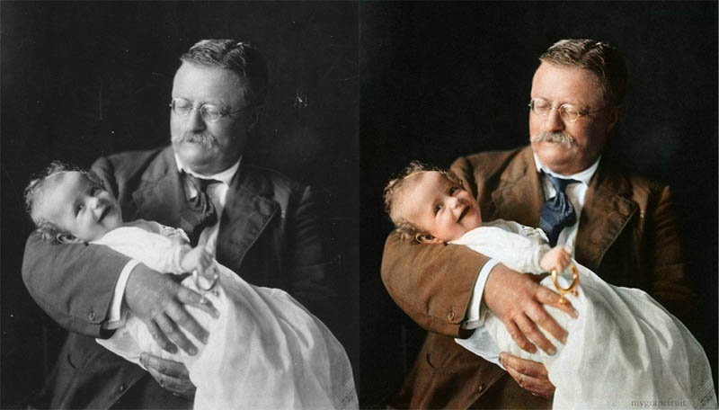 theodore roosevelt colorized 15 Famous Photos in History Colorized