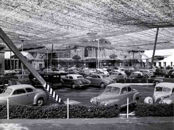 wwii lockheed covered in netting 8 Hiding Air Bases, Factories and Plants in WWII