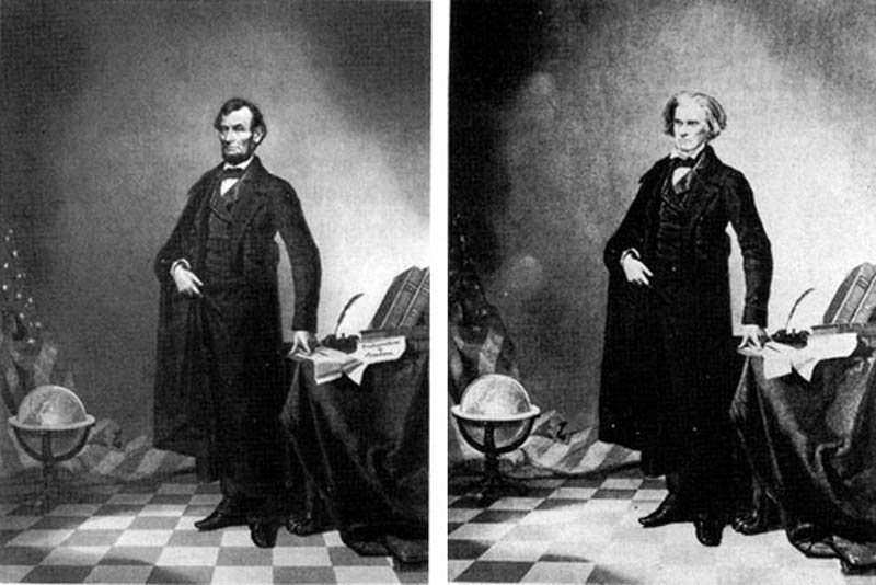 abraham lincoln doctored photoshopped john calhoun body 12 Historic Photographs That Were Manipulated