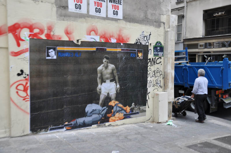 ali vs ryu stree fighter street art 2 Picture of the Day: Ali vs Ryu