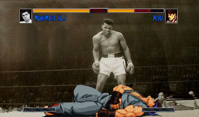 ali vs ryu street fighter street art Picture of the Day: Ali vs Ryu