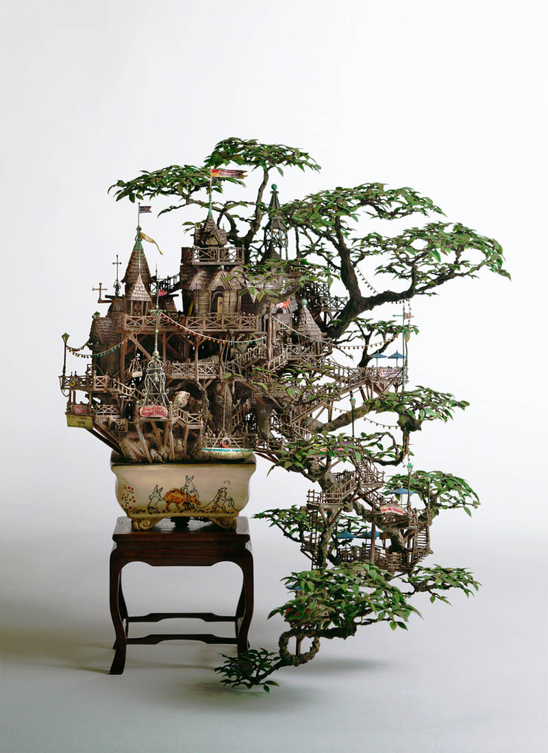 Picture of the day the coolest bonsai treehouse ever for Cool small tree houses