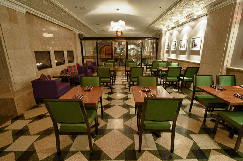 chicago supper club restaurant reclaims bank with vault the bedford 10 Chicago Supper Club Reclaims 1920s Bank with VIP Vault Room