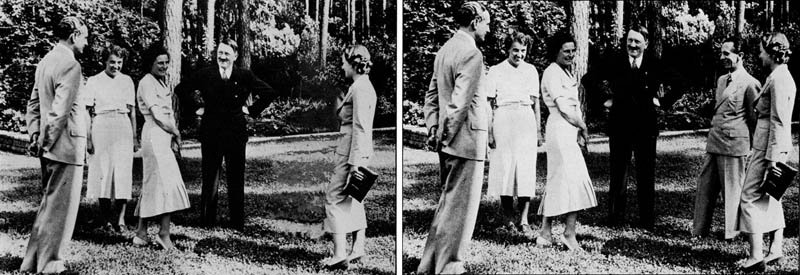 hitler doctored photoshop airbrushes removes joseph goebbles 1937 12 Historic Photographs That Were Manipulated
