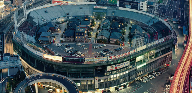 houses buildings living inside osaka stadium japan Picture of the Day: Osaka Stadium Redux
