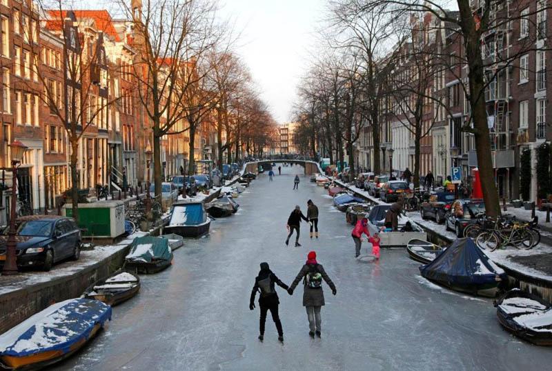 погода зимой в европе тоже очень
