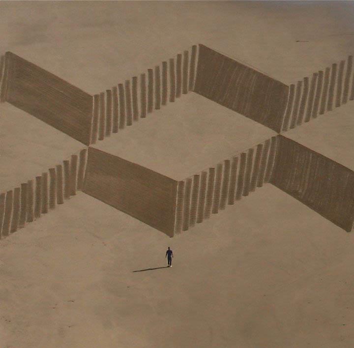 jim denevan giant beach sand art 9 The Colossal Land Art of Jim Denevan [30 pics]