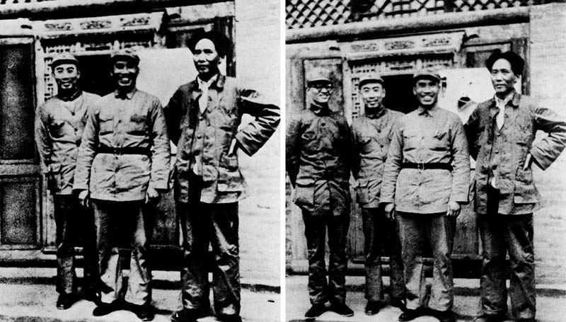 mao tse tung removes po ku from photo 12 Historic Photographs That Were Manipulated