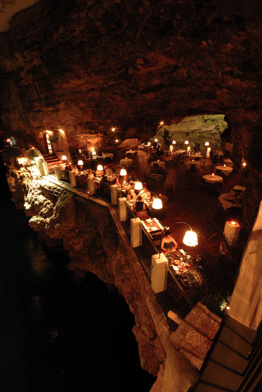 restaurant inside a cave cavern itlay grotta palazzese 9 The Seaside Restaurant Set Inside a Cave