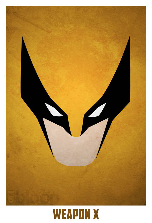 superheroes and villains minimal art posters by bloop 10 Minimalist Superheroes and Villains Posters