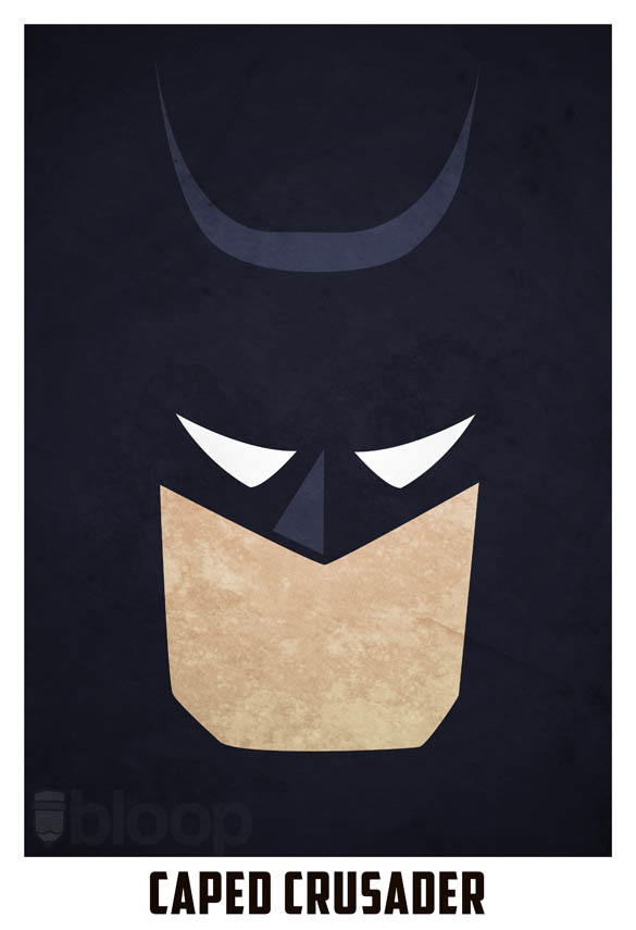 minimalist superheroes and villains posters twistedsifter