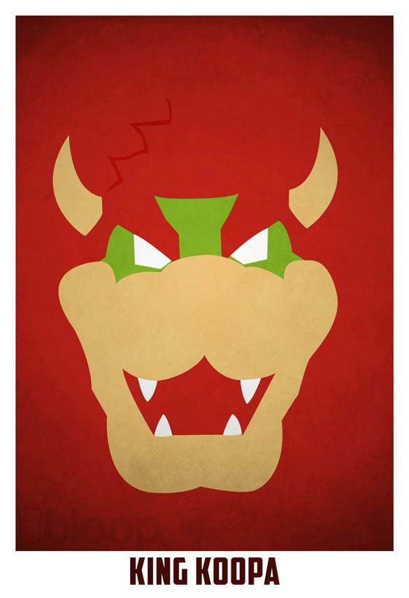 superheroes and villains minimal art posters by bloop 13 Minimalist Superheroes and Villains Posters