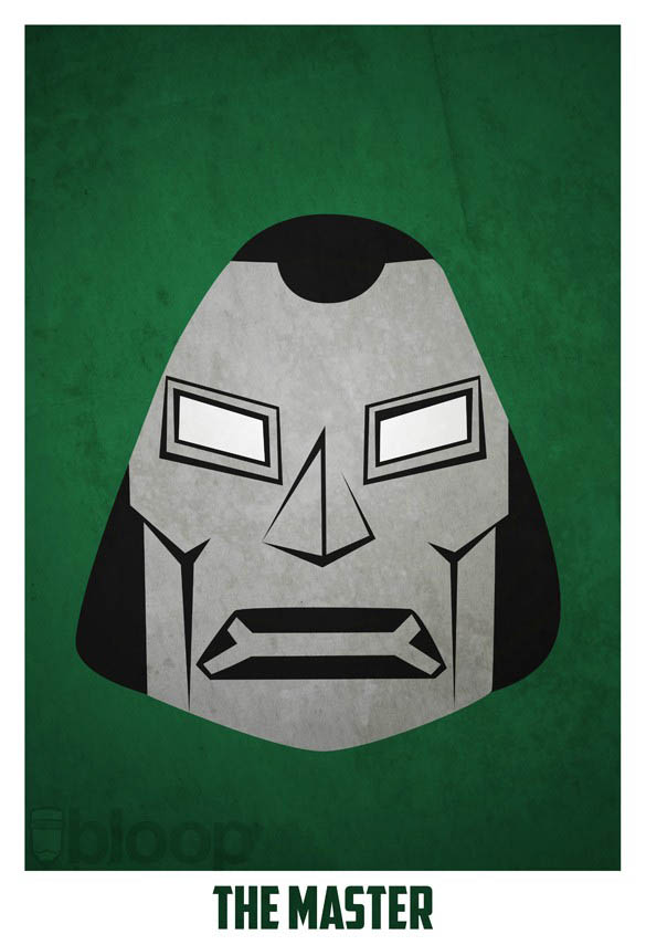 superheroes and villains minimal art posters by bloop 22 Minimalist Superheroes and Villains Posters