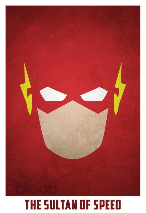 superheroes and villains minimal art posters by bloop 25 Minimalist Superheroes and Villains Posters