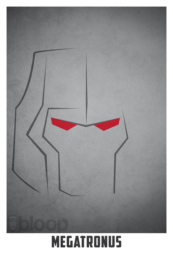 superheroes and villains minimal art posters by bloop 26 Minimalist Superheroes and Villains Posters